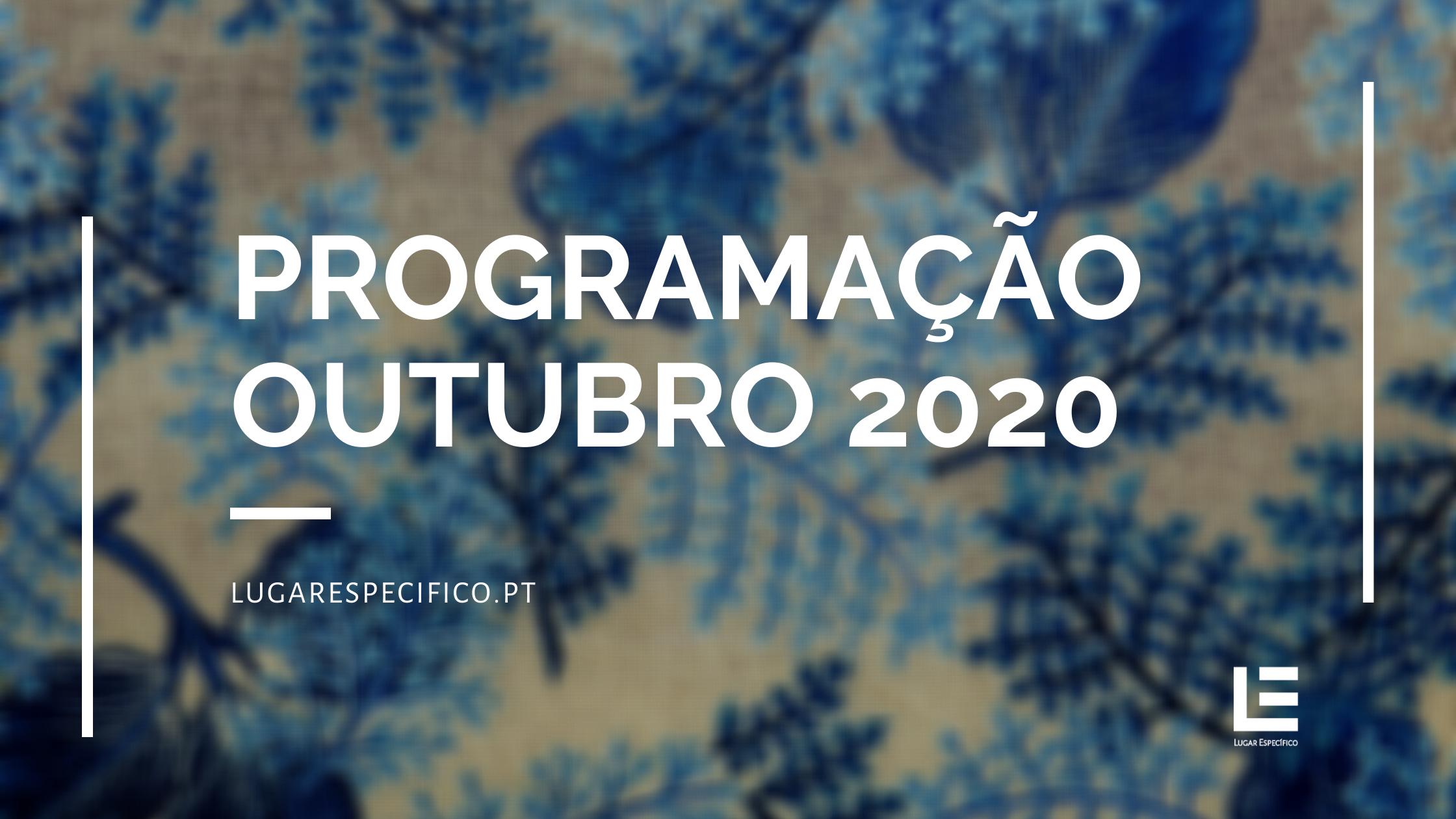 AGENDA ESPECÍFICA – Programação Outubro 2020