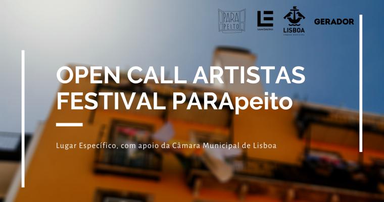 OPEN CALL PARA ARTISTAS | FESTIVAL PARApeito