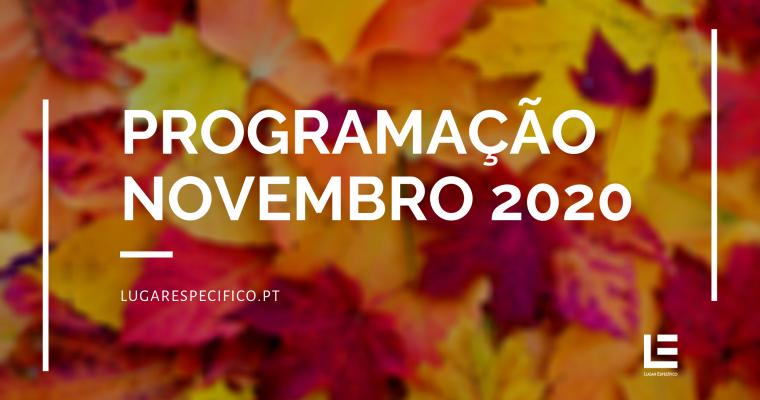 AGENDA ESPECÍFICA – PROGRAMAÇÃO NOVEMBRO 2020