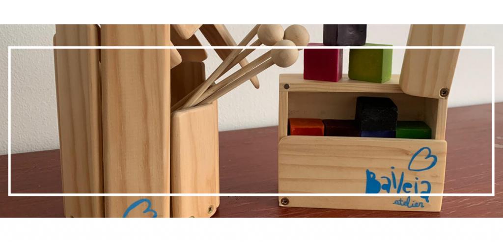 produtos baileia: lápis e instrumentos
